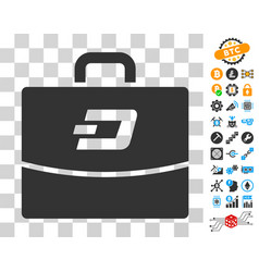 Dash accounting case icon with bonus vector