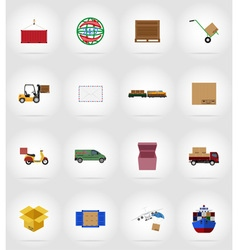 Delivery flat icons 17 vector