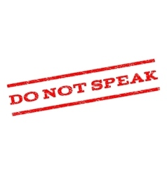 Do not speak watermark stamp vector