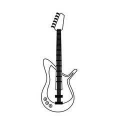 Electric guitar musical instrument icon image vector