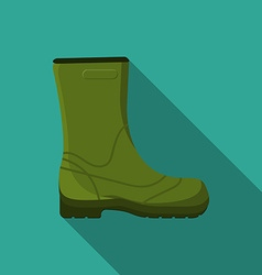 Flat design modern of rubber boot icon camping vector