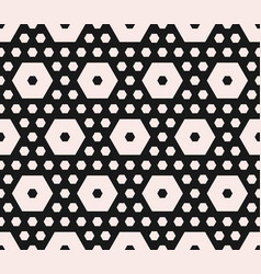 geometric pattern different sized hexagons vector image