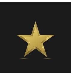 Golden Star symbol vector image vector image