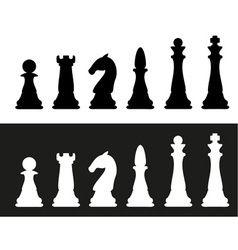 icon chess pieces vector image vector image