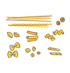 Italian pasta set vector