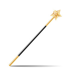 Magic wand with gold star vector