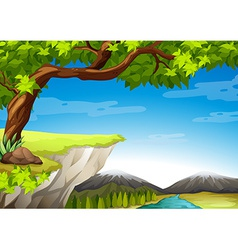 Mountains and trees vector image