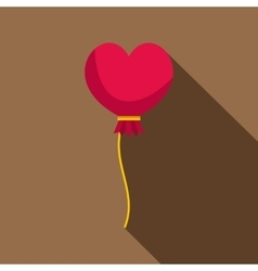 Pink heart balloon icon flat style vector