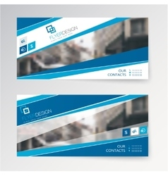 Set horizontal abstract flyer template with vector