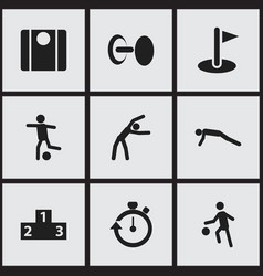 Set of 9 editable exercise icons includes symbols vector