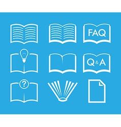 Set of Book icons vector image vector image