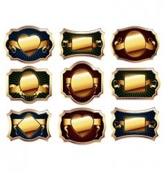 set of golden frame vector image vector image