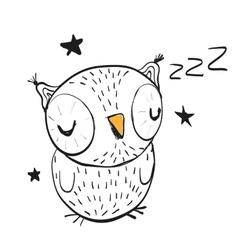 Sleeping Owl vector image