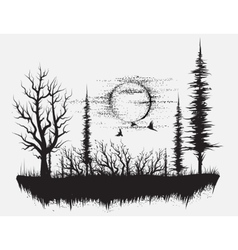 Strange forest vector image