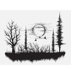 Strange forest vector image vector image