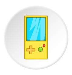 Tetris for games icon cartoon style vector