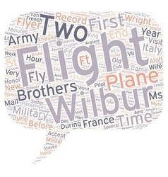 The first military flyer text background wordcloud vector