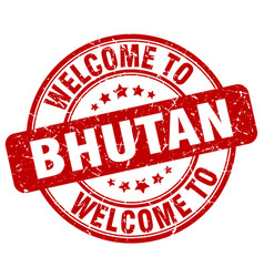 Welcome to bhutan vector