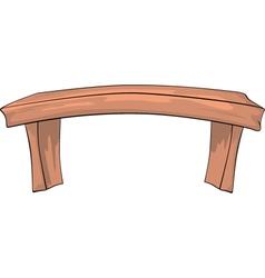 Bench Cartoon vector image