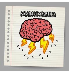 Doodle brain storm vector