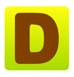 letter d sign design template element vector image