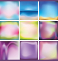 Set of bright colored multi-colored backgrounds vector