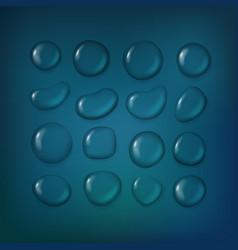 Different water drops clipart transparent liquid vector