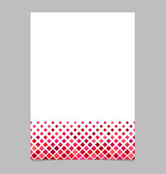 Red diagonal square pattern page template vector