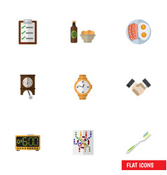 Flat icon lifestyle set of questionnaire electric vector
