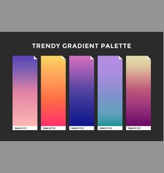 Trendy gradient swatches vector
