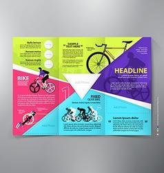 Brochure leaflet design tri-fold template vector