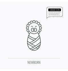 Newborn baby icon toddler sign vector