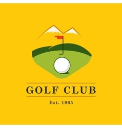 Vintage color golf championship badge vector