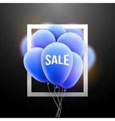 Sale balloons promotional poster frame vector