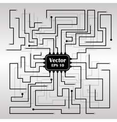 Background with circuit board vector