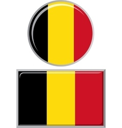 Belgian round and square icon flag vector