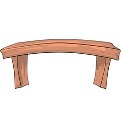 Bench Cartoon vector image vector image