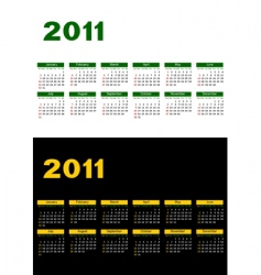 calendar 2011 vector image