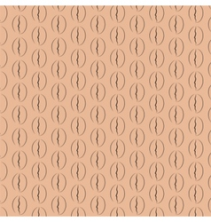 Coffee beans pattern vector image vector image