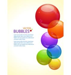 Colourful bubble background portrait vector