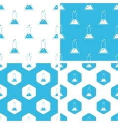 Conical flask patterns set vector