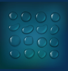 different water drops clipart transparent liquid vector image vector image