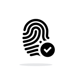 Fingerprint accepted icon on white background vector