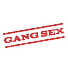 Gang sex watermark stamp vector