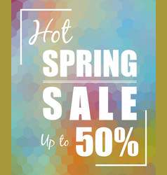 Hot spring sale up to 50 over polygonal mosaic vector