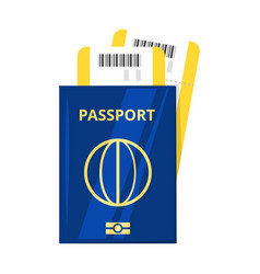 International passport and tickets vector