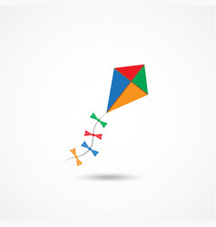 Kite icon vector image vector image