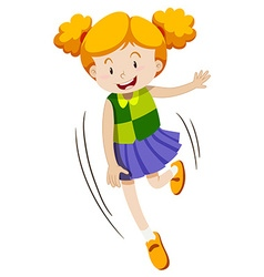 Little girl with happy face vector image vector image