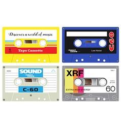 Plastic cassette tape vector
