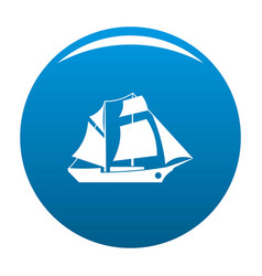 Ship excursion icon blue vector